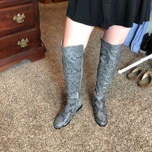 Michael Kors snake skin over the knee boots
